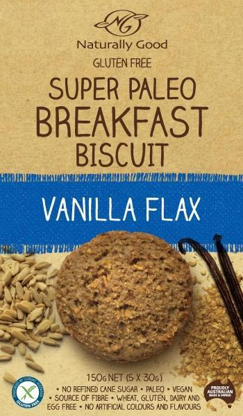 Naturally Good Super Paleo Breakfast Bscuit Vanilla Flax (3x50g) G/F 150g