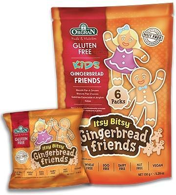 Orgran Kids Itsy Bitsy Gingerbread Friends Biscuits G/F 6x25g