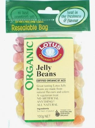 Lotus Jelly Beans Organic 100gm-Health Tree Australia