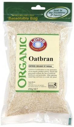 Lotus Organic Oatbran 250gm-Health Tree Australia