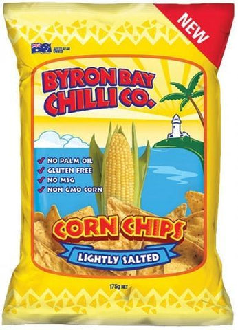 Byron Bay Chilli Lightly Salted Cornchips G/F 12x175g-Health Tree Australia
