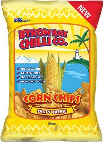 Byron Bay Chilli Tasty Cheese Cornchips G/F 12x175g-Health Tree Australia