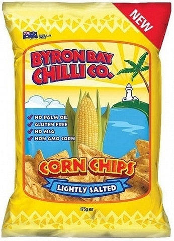 Byron Bay Chilli Lightly Salted Cornchips G/F 300g