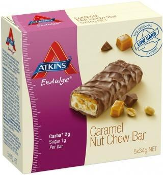 Atkins Endulge Caramel Nut Chew Bar 5x34g