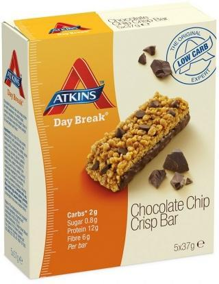 Atkins Day Break 5pk - Chocolate Chip Crisp 185g-Health Tree Australia