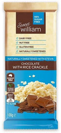 Sweet William NAS Sweet As Rice Crackle G/F 100g-Health Tree Australia