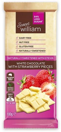 Sweet William NAS Sweet As White Strawberry G/F 100g-Health Tree Australia