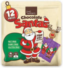 Sweet William Chocolate Santas 12 Mulitpack G/F 155g-Health Tree Australia