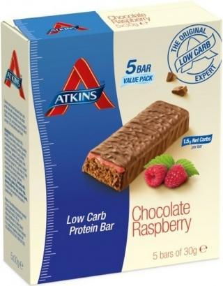 Atkins Advantage 5Pk Low Carb Chocolate Raspberry 150g-Health Tree Australia