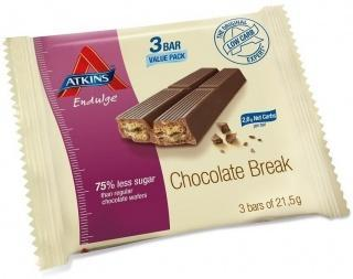 Atkins Endulge 3Bar Low Carb Chocolate Break 64.5g-Health Tree Australia