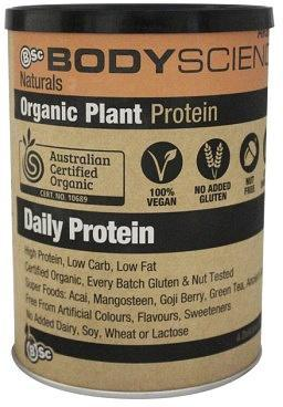 BSc Naturals Organic Plant Protein Chocolate 350g-Health Tree Australia