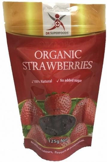 Dr Superfoods Organic Strawberries G/F 125g-Health Tree Australia