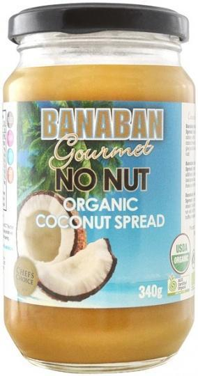 Banaban Gourmet No Nut Organic Coconut Spread G/F 340g-Health Tree Australia