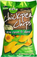 K & S Chickpea Chips Sour Cream & Chives 175g