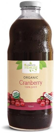 Complete Health Organic Cranberry 100% Juice 700ml-Health Tree Australia