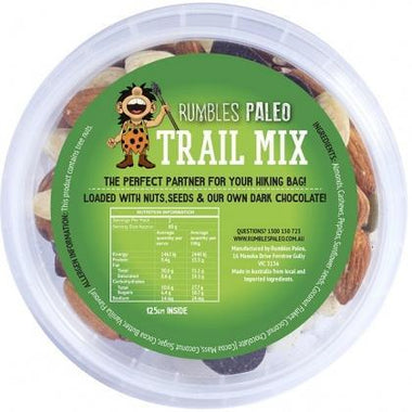 Rumbles Paleo Trail Mix 125g Tub AUG17-Health Tree Australia
