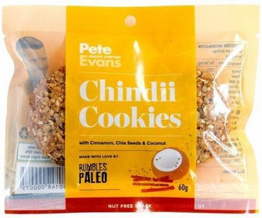 Rumbles Peter Evans Chindii Cookie G/F 60g-Health Tree Australia