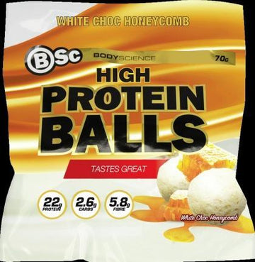 BSc HydroxyBurn Lo Carb Balls Chocolate Honeycomb Chunks 8x70g