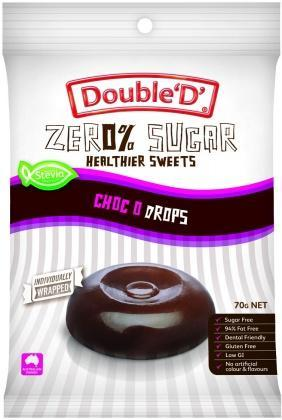 Double D Sugar Free Choc O Drops 70g