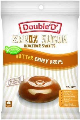 Double D Sugar Free Butter Candy Drops 70g-Health Tree Australia