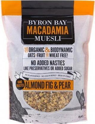 Byron Bay Macadamia Muesli Almond Fig & Pear 450g-Health Tree Australia