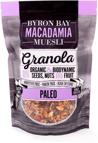 Byron Bay Macadamia Muesli Gluten Free Granola Paleo Mix Honey Roasted 450g-Health Tree Australia