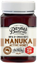 Barnes Naturals Active Manuka Honey NPA 5+ (MGO 83+) 500g Jar