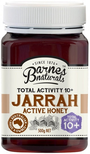 Barnes Naturals Active Jarrah Honey TA10+ 500g Jar