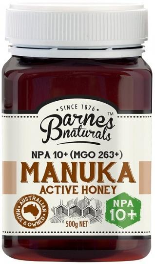 Barnes Naturals Active Manuka Honey NPA 10+ (MGO263+) 500g Jar-Health Tree Australia