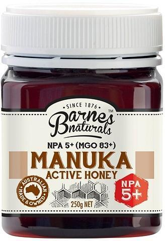 Barnes Naturals Active Manuka Honey NPA 5+ (MGO 83+) 250g Jar