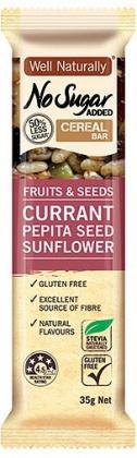 Well,naturally NAS Cereal Bar Fruits&Seeds Currant Pepita Seed Sunflower G/F 16x35g