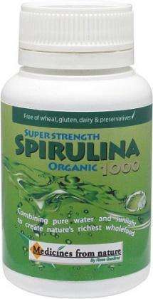 Medicines From Nature Organic Super Strength Spirulina 1000 60caps-Health Tree Australia
