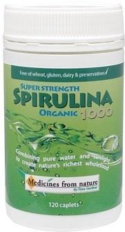 Medicines From Nature Organic Super Strength Spirulina 1000 120caps-Health Tree Australia