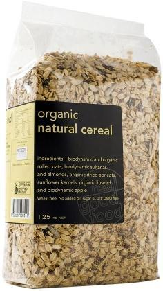 Real Good Foods Org W/F Natural Cereal Bag 1.25kg FEB18