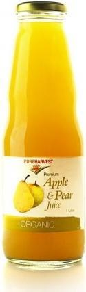Pure Harvest Organic Pear & Apple Juice 1ltr x 6-Health Tree Australia