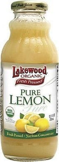 Lakewood Pure Organic Lemon Juice 370ml