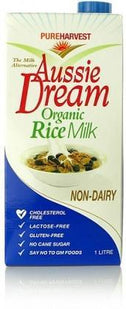 Pure Harvest Aussie Dream Org Rice Milk 1ltr-Health Tree Australia