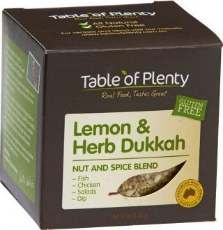 Table of Plenty Lemon & Herb Dukkah Spice Blend G/F 45g-Health Tree Australia