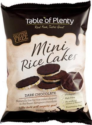 Table of Plenty Dark Chocolate Mini Rice Cakes G/F 60g