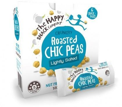 The Happy Snack Company Roasted Chic Peas Lightly Salted 6x25g Box-Health Tree Australia