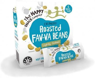 The Happy Snack Company Roasted Fav-va Beans Lightly Salted 6x25g Box-Health Tree Australia