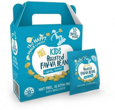 The Happy Snack Company KIDS Fav-va Beans Lightly Salted 10x15g Pack-Health Tree Australia