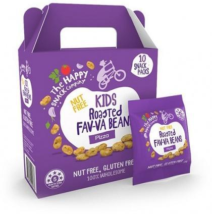 The Happy Snack Company KIDS Fav-va Beans Pizza 10x15g Pack-Health Tree Australia
