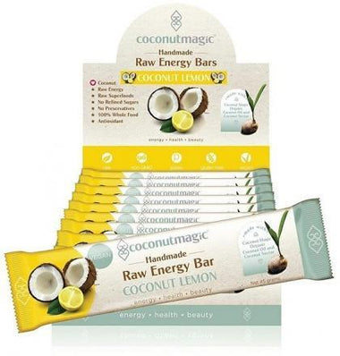 Coconut Magic Raw Energy Bars Coconut Lemon G/F 12x45g-Health Tree Australia