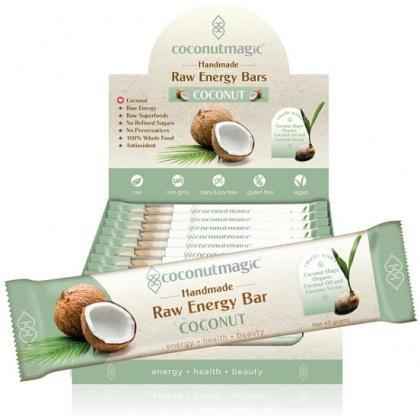 Coconut Magic Raw Energy Bars Coconut 12x45g-Health Tree Australia