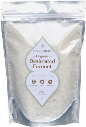Coconut Magic Organic Fine Desiccated Coconut 325g bag-Health Tree Australia