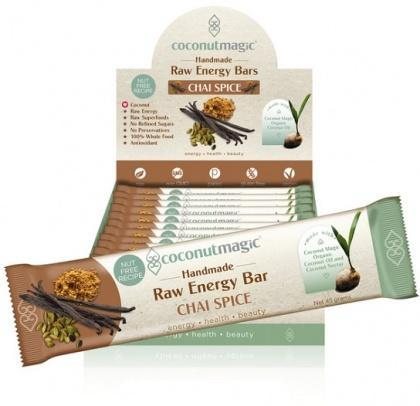 Coconut Magic Raw Energy Bars Chai Spice G/F 12x45g-Health Tree Australia
