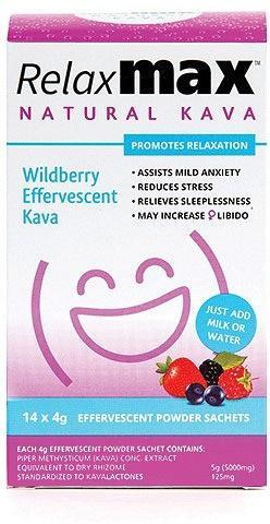 RelaxMax Kava Wildberry Effervescent Powder 14x4g-Health Tree Australia