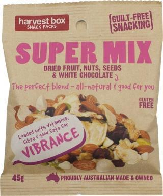 Harvest Box Super Mix, Dried Fruit & Nut w/White Chocolate G/F 45g