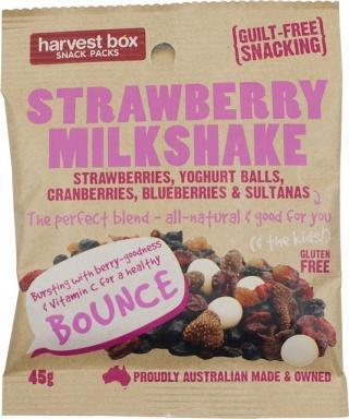 Harvest Box Stawberry Milkshake, Dried Fruit & Yoghurt Balls G/F 45g